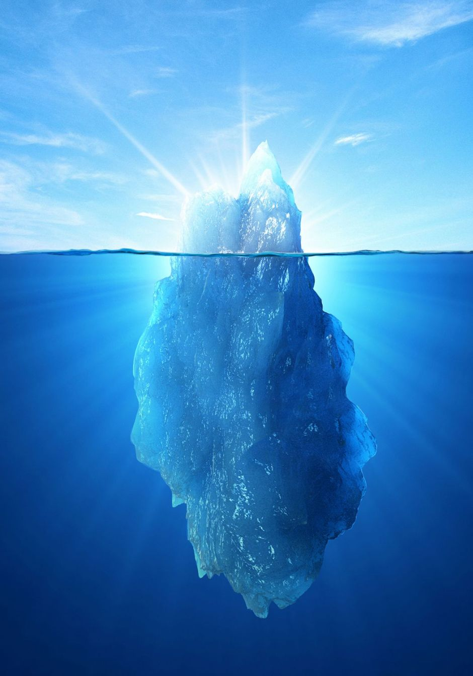Iceberg illustration by Zina Deretsky, National Science Foundation