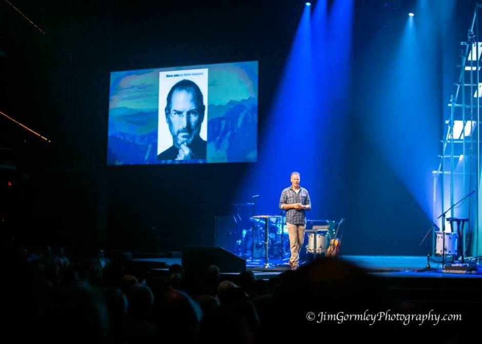 Brian Tome, Senior Pastor of Crossroads Church, opens the Unpolished 2015 Conference. Photo Courtesy of Jim Gormley.