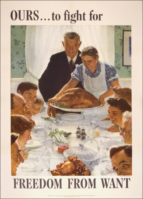 A poster to sell war bonds using painting by Norman Rockwell.