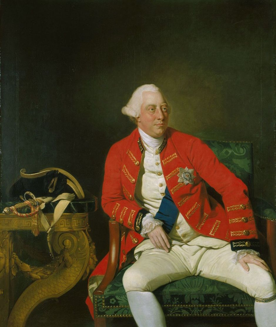 Portrait of George III of the United Kingdom (1738-1820) by Johann Zoffany (1733-1818). Public domain.