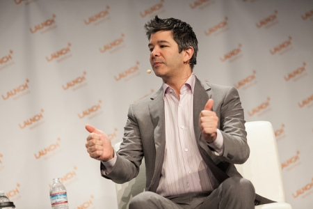 Uber CEO Travis Kalanick at 2014 Launch Festival. Photo by JD Lasica, https://www.flickr.com/photos/jdlasica/, under a creative commons license.