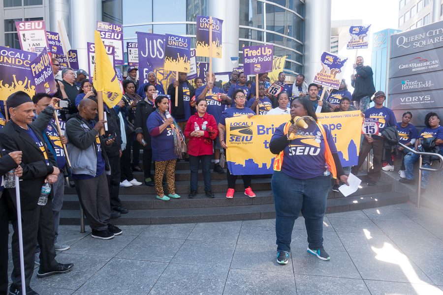 SEIU Local 1 rally in Cincinnati